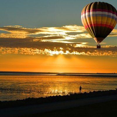 Sunset Abendstimmung Hot Air Balloon  - neelam279 / Pixabay